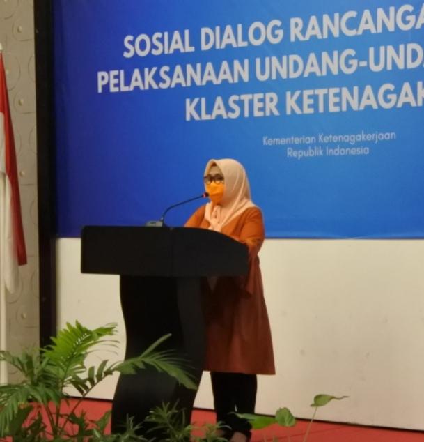 Staf Ahli Menaker Reyna Usman: Penting Elemen di Daerah Dilibatkan Bahas RPP UU Cipta Kerja