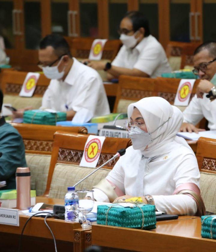 Pada Komisi IX DPR, Menaker Jelaskan Substansi RPP Jaminan Kehilangan Pekerjaan